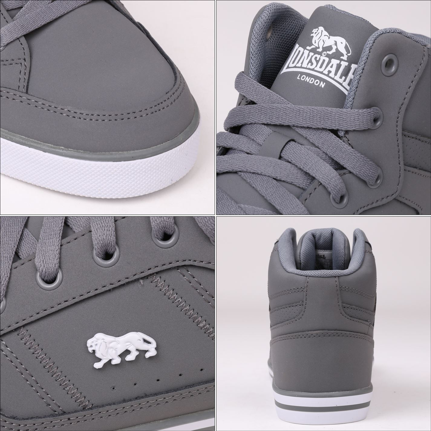 Lonsdale Gents homme Canons Hi Top Sneakers Baskets Lacets Casual Logo