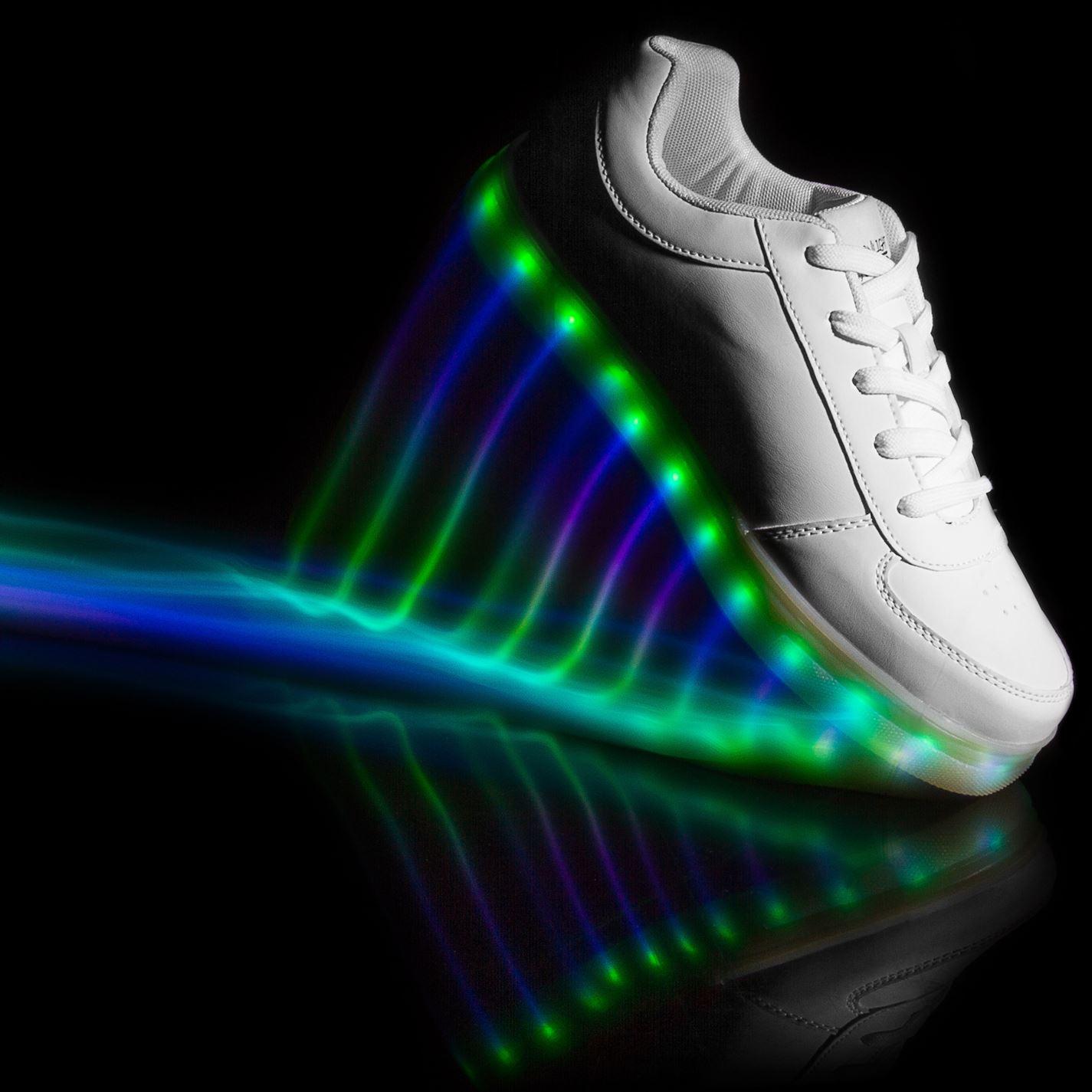 Beppi Caballeros Hombre Zapatos Zapatillas Tenis Cordones De La Luna USB Suela intermitente