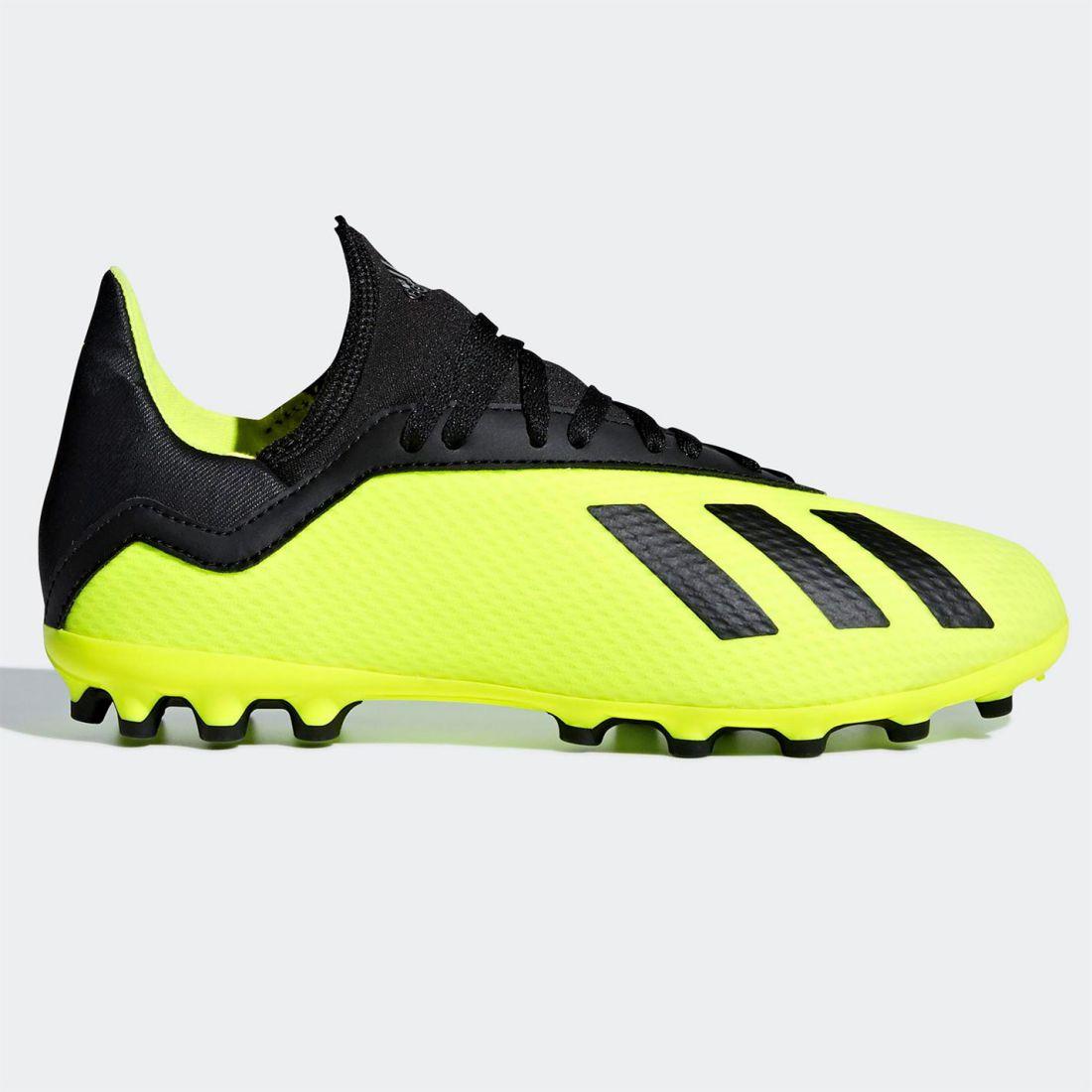super popular 1ce9a c22e1 adidas Kids X 18.3 Childs AG Football Boots Firm Ground Lace Up Lightweight  Mesh