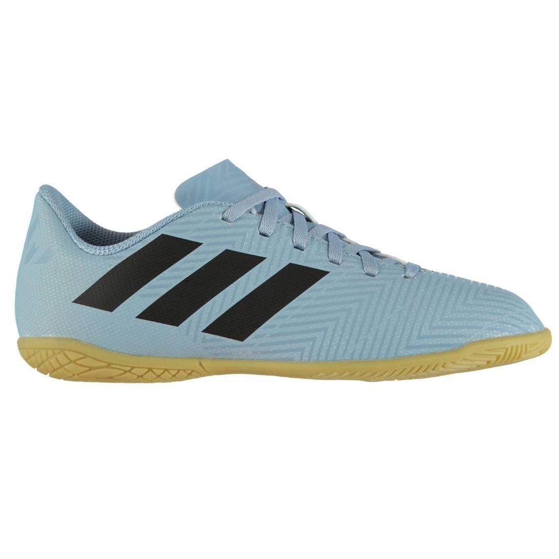 31d20027bc6d1 adidas Kids Nemeziz Messi Tango 18.4 Childs Indoor Football Trainers Boots  Lace