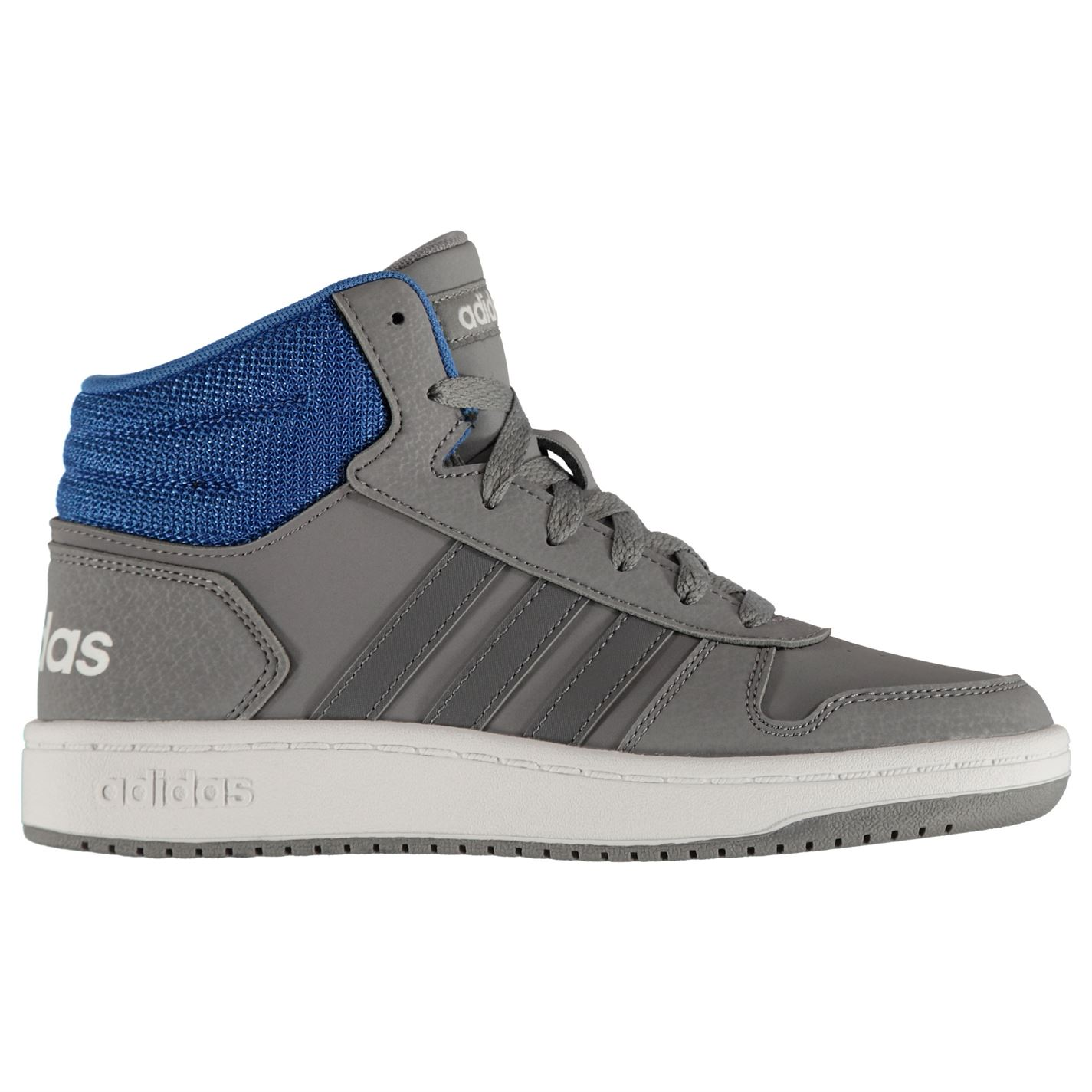 adidas Kids Boys Hoops Mid 2.0 High Top Trainers Junior Lace Up Padded Ankle 578316b7111