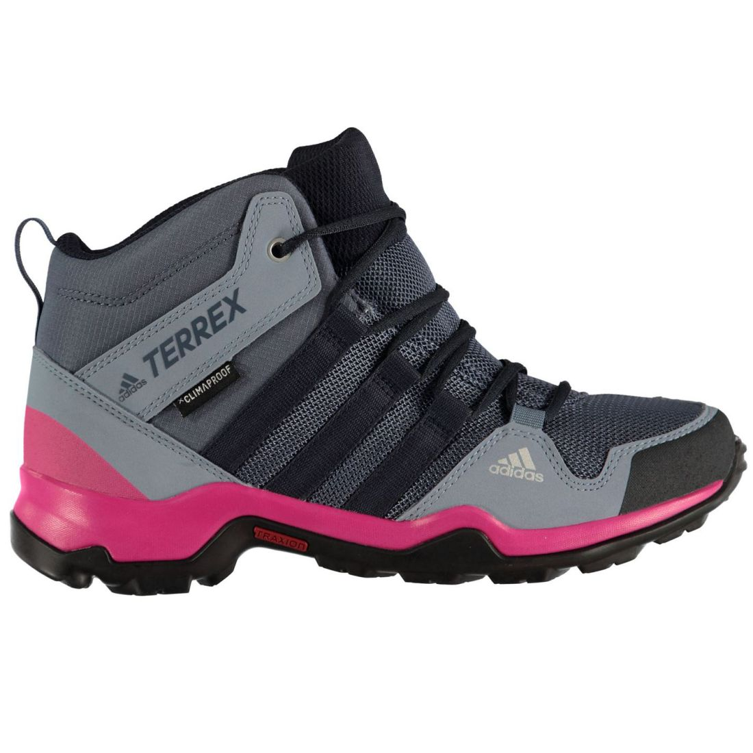 2f8ba5e1b14 adidas Terrex AX2R Mid Youngster Girls Walking Boots Laces ...