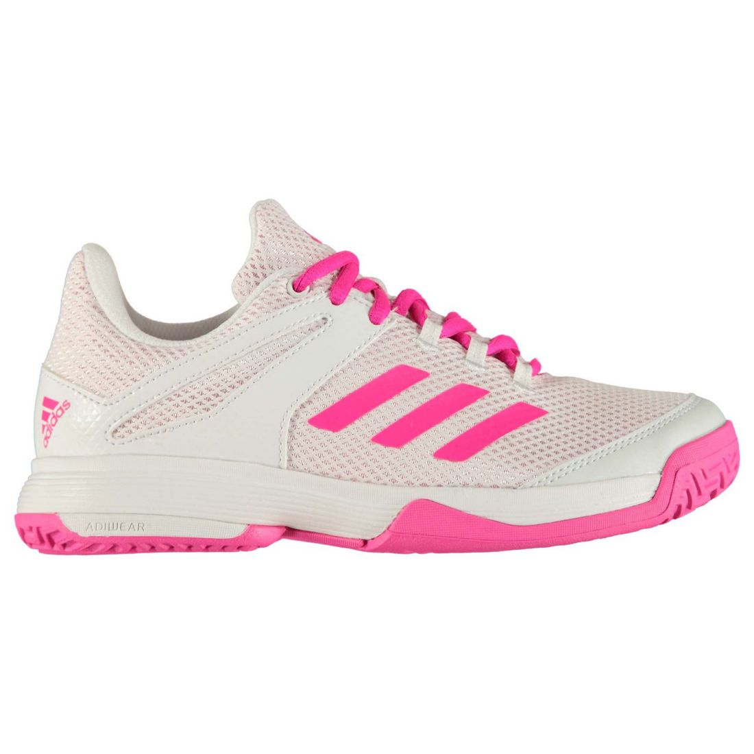 09c405b82eaf Details about adidas Kids Girls adiZero Club K Junior Tennis Shoes Lace Up  Padded Ankle Collar