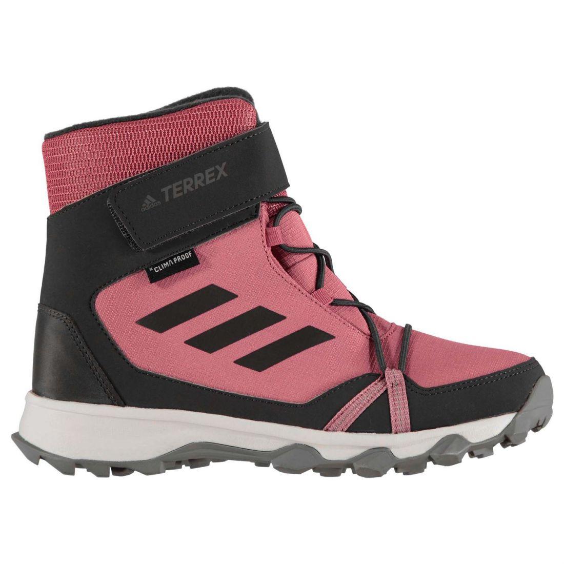 a7f77e43aae adidas Kids Boys Terrex Snow Junior Boots Elasticated Laces Waterproof Strap