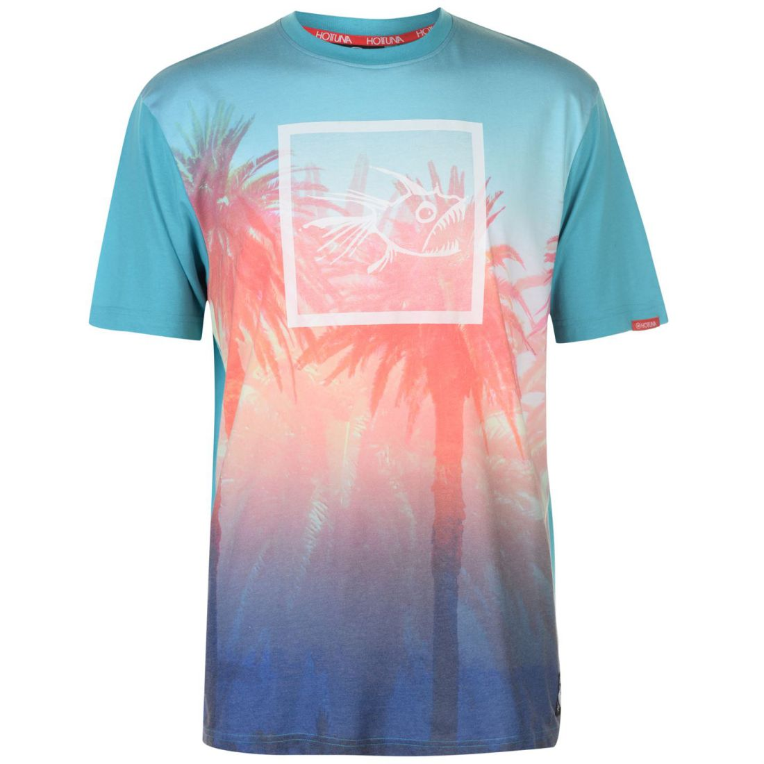 1cc659ea Hot Tuna Mens Sublimation Print T Shirt Crew Neck Tee Top Short Sleeve All  Over