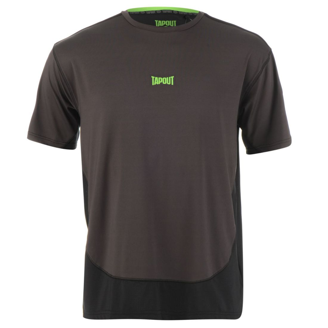 2f90e2c4 Tapout Mens Two Tone T Shirt Short Sleeve Performance Tee Top Crew ...