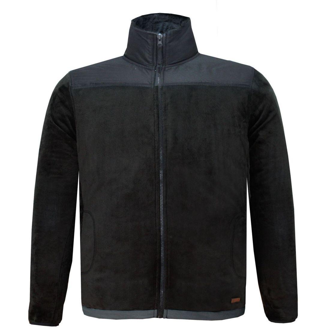 Lee-Cooper-Mens-Teddy-Fleece-Jacket-Full-Zip-Top-Coat-Sweatshirt-Jumper-Warm thumbnail 5
