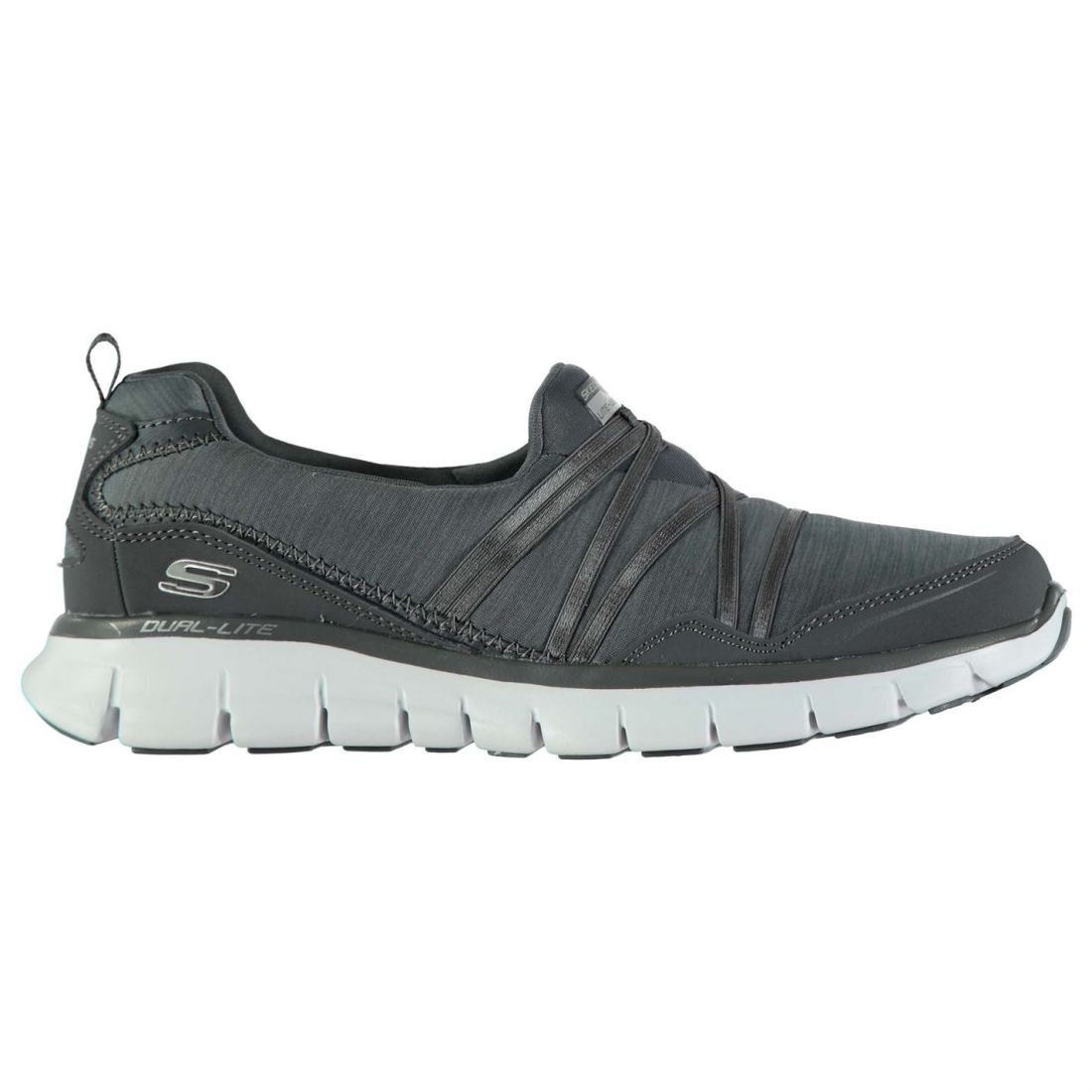 Skechers Synergy Scene Stealer Sneakers Ladies Slip On Padded Ankle Collar