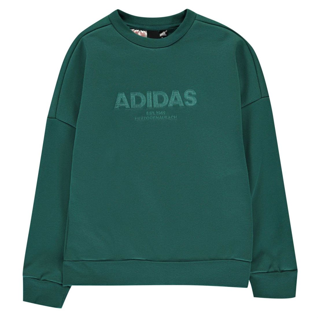 2db78eb7b1c9 Image is loading adidas-ESS-AC-Crw-Sw-JB83-Childrens-Crew-
