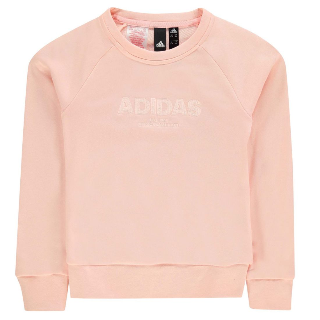 6fe811a27 adidas Kids Girls ESS AC Crw Sw JG83 Crew Sweater Jumper Pullover