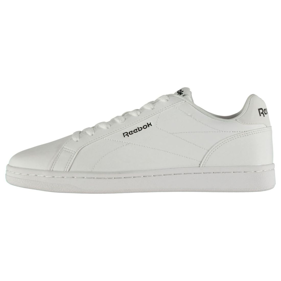 Reebok Complete Leather Sneakers Mens Gents Court Laces Fastened Padded Ankle