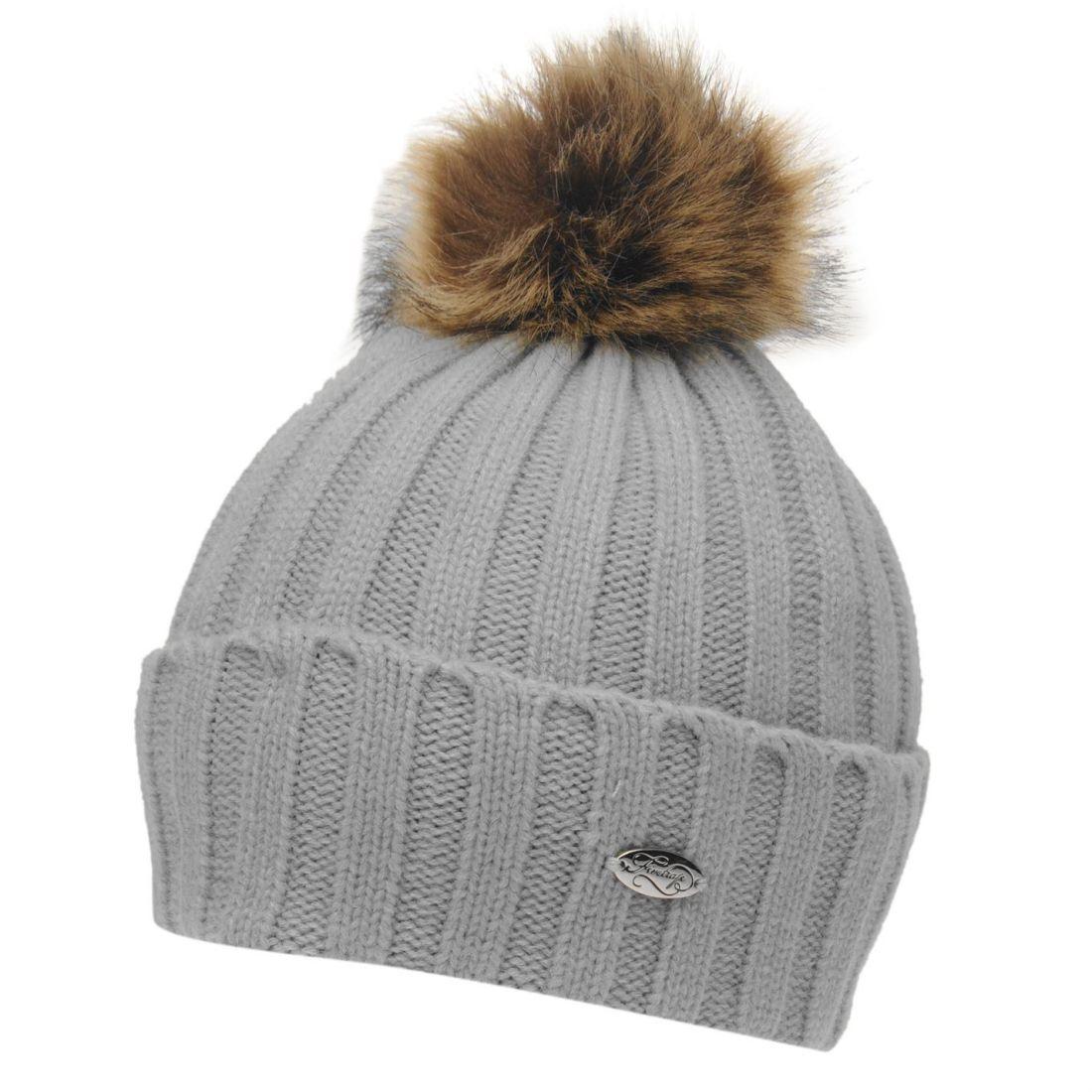 5c9cd975c Details about Firetrap Womens Etna Beanie Hat Bobble Warm Faux Fur