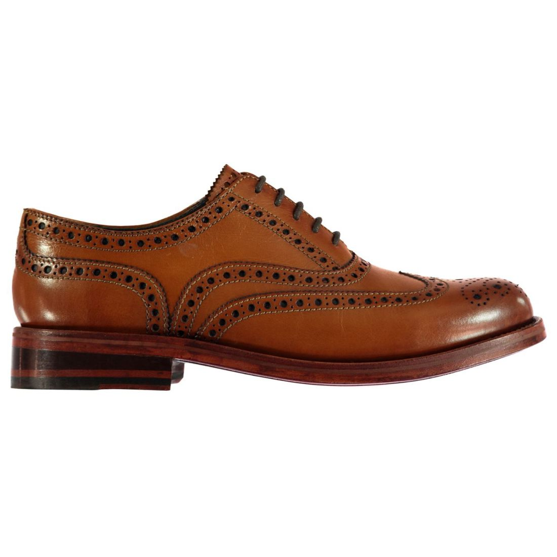 Para Hombre Firetrap negroseal Highbury Zapatos Cuero Calado costura tonal NUEVO