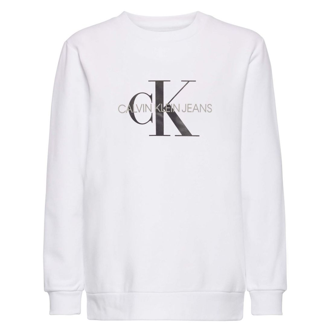 bd77535c Details about Womens Calvin Klein Monogram Logo Sweater Crew Long Sleeve New