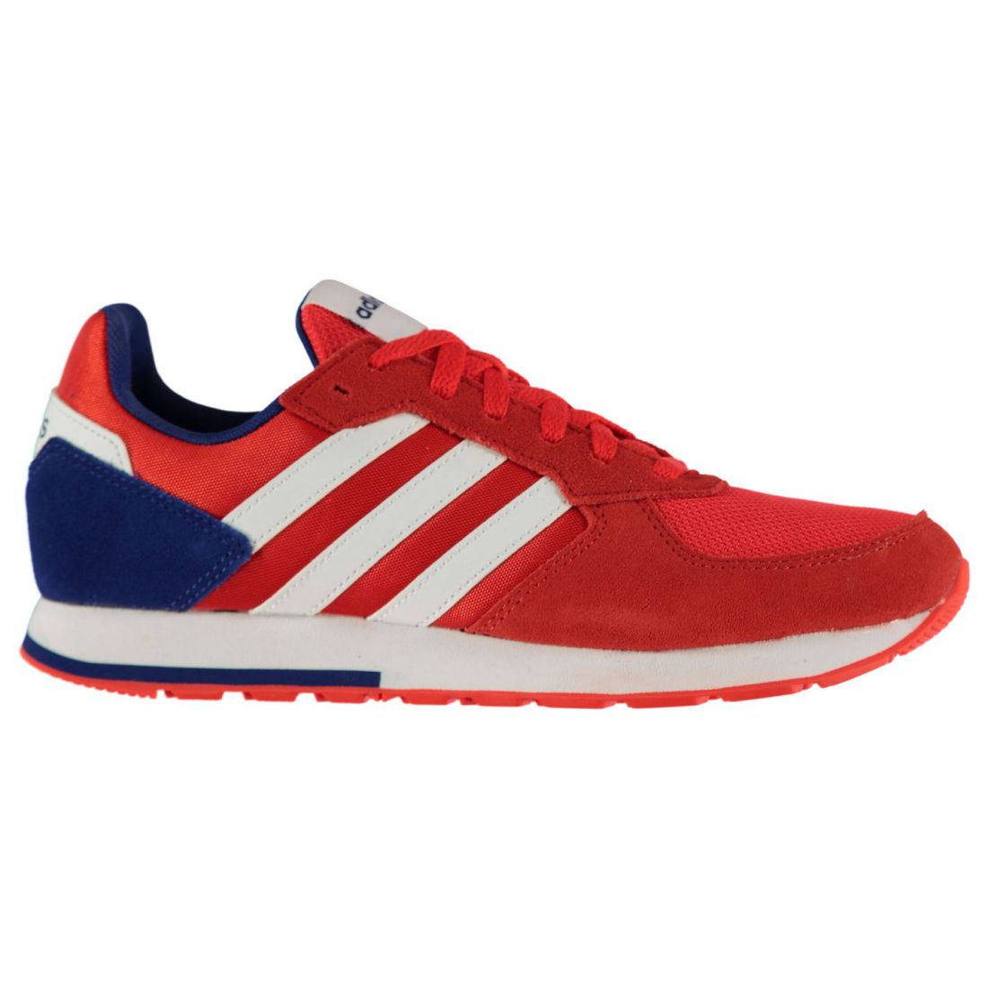 Adidas 8K Turnschuhe Mens Gents Runners Laces Fastened Mesh Upper Suede Stripe