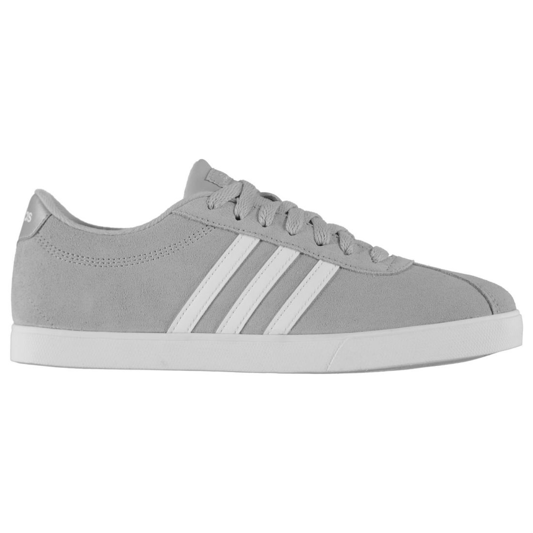 a836e1e5e0f8ed Image is loading Womens-adidas-CourtSet-Suede-Shoes-Trainers-Stripe-New
