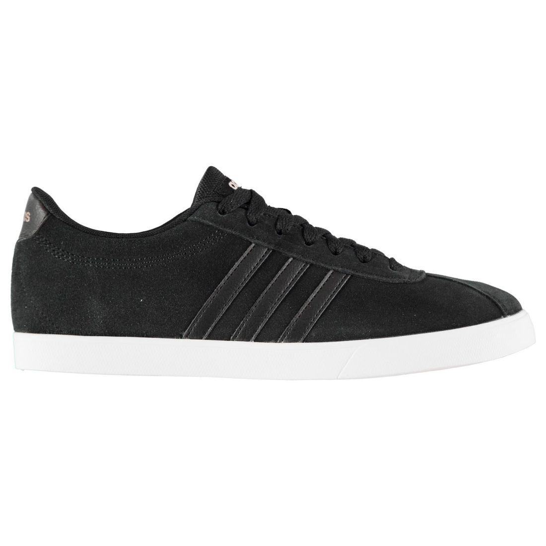 Adidas courtset scarpe scamosciate signore signore signore scarpe allacciate con i laccicaviglia collare   Forte valore  017319
