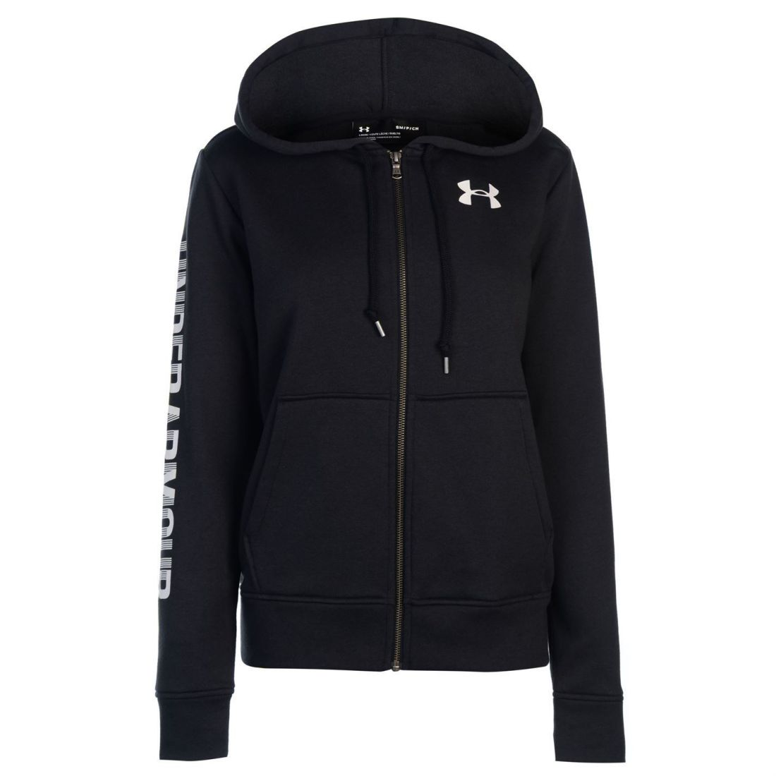 Under Armour Womens Logo Fleece Zip Hoodie Hoody Hooded Top Long Sleeve Full cab72cef6