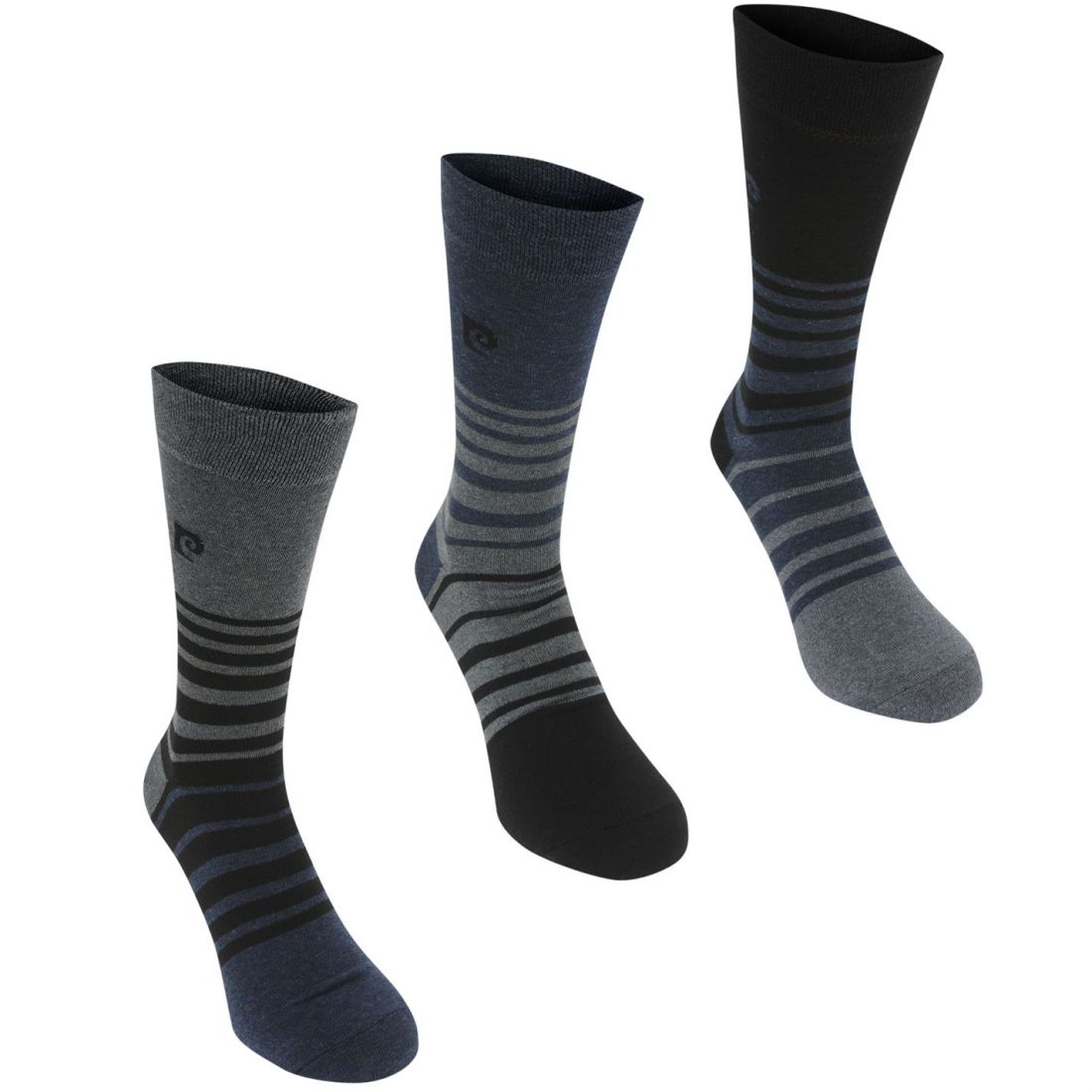 Pierre Cardin Mens 3 Pack Fashion Socks Crew Knitted | eBay