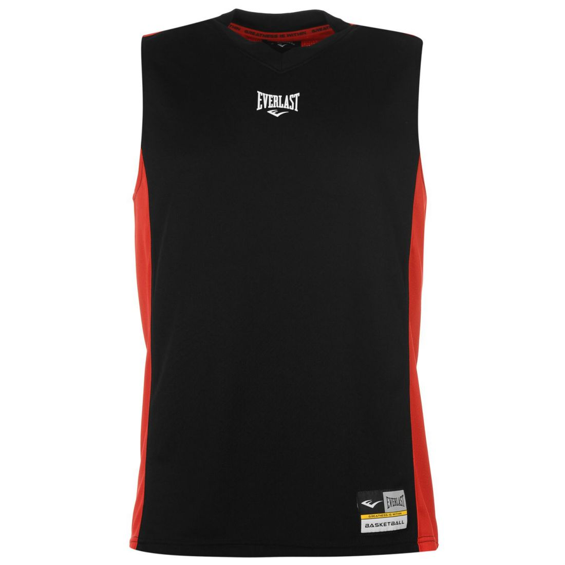 9b92852e465 Image is loading Everlast-Mens-Basketball-Jersey-V-Neck-Sleeveless-Sports-