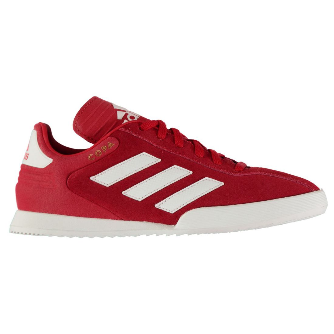 135a4a0e61 adidas Kids Boys Copa Super Suede Trainers Lace Up Padded Ankle Collar  Stripe