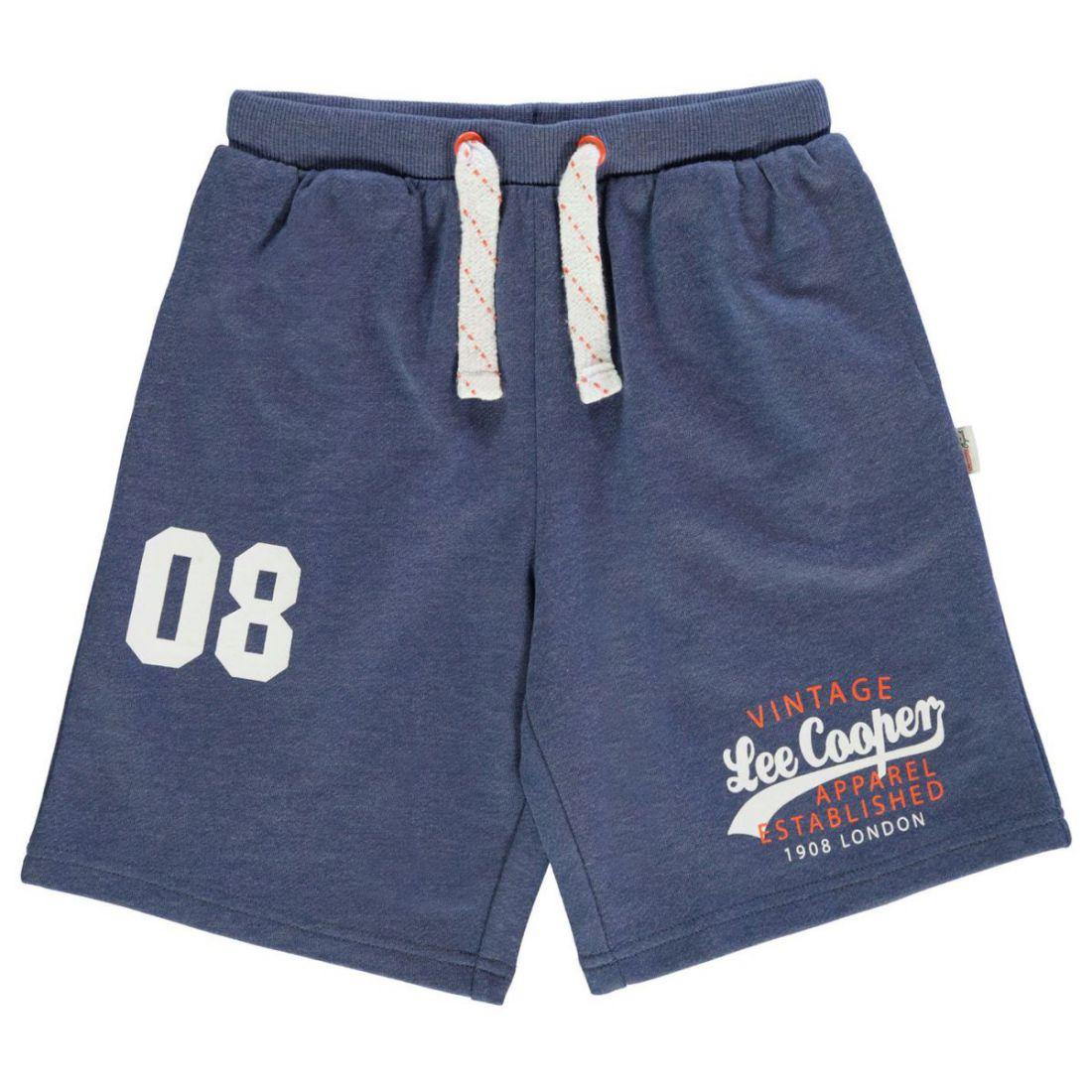 4666eb684581 Details about Lee Cooper Kids Boys Fleece Shorts Junior Pants Trousers  Bottoms Print Jersey