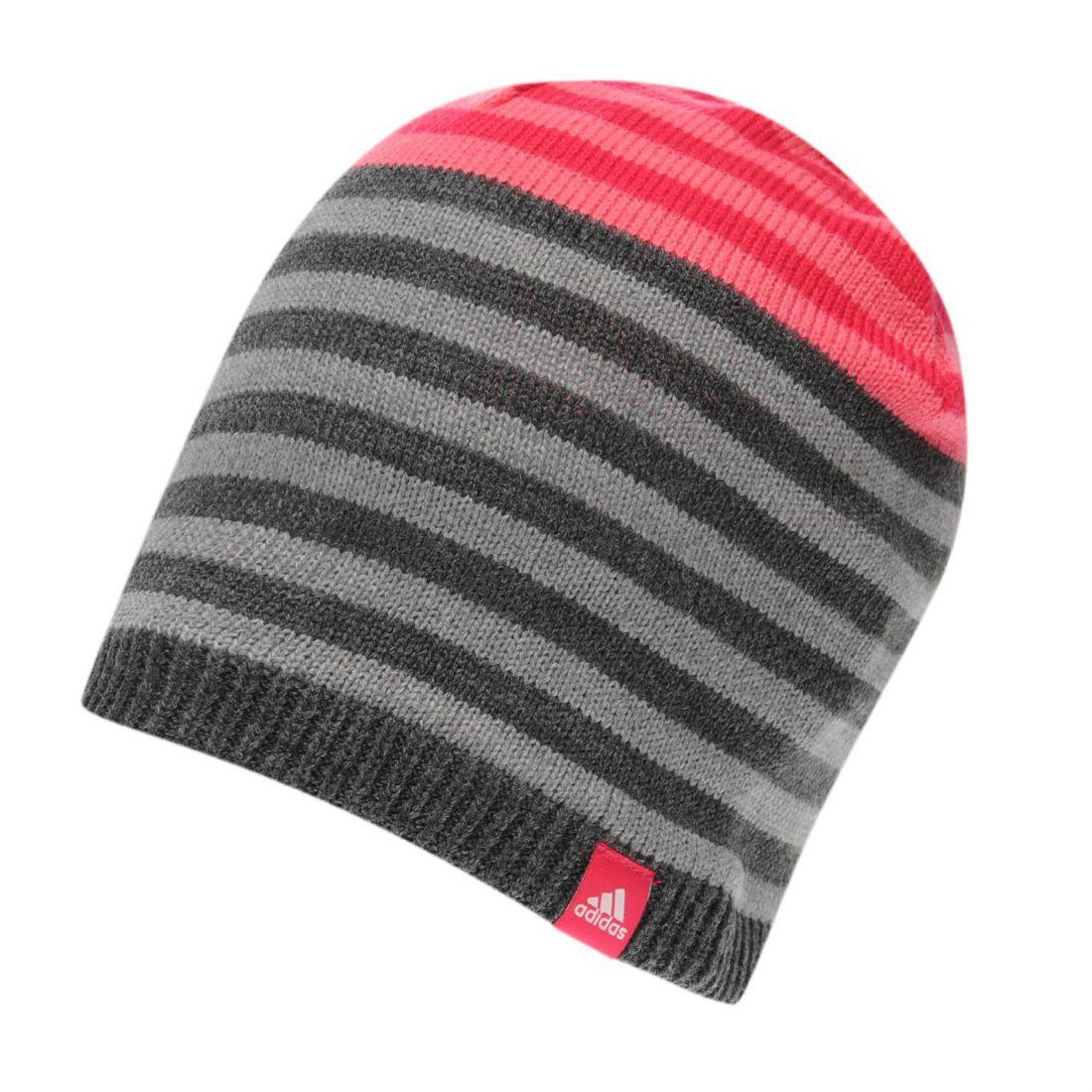 eb9fedac31c8c adidas Kids Stripe Beanie Juniors Warm Striped Knitted