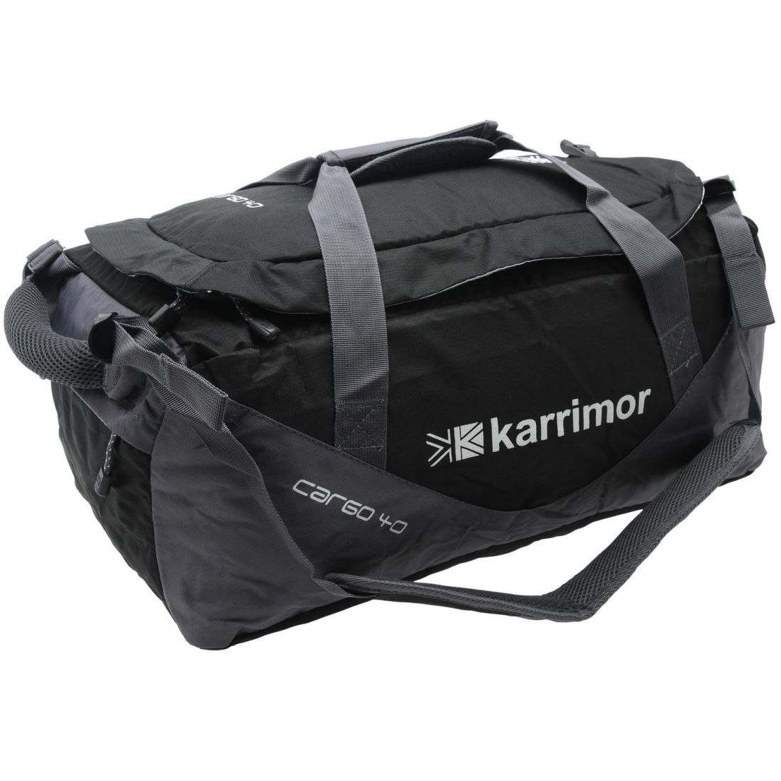 991d07f9d2 Image is loading Karrimor-Cargo-40-Bag-Holdall-Zip-Mesh-Outdoor