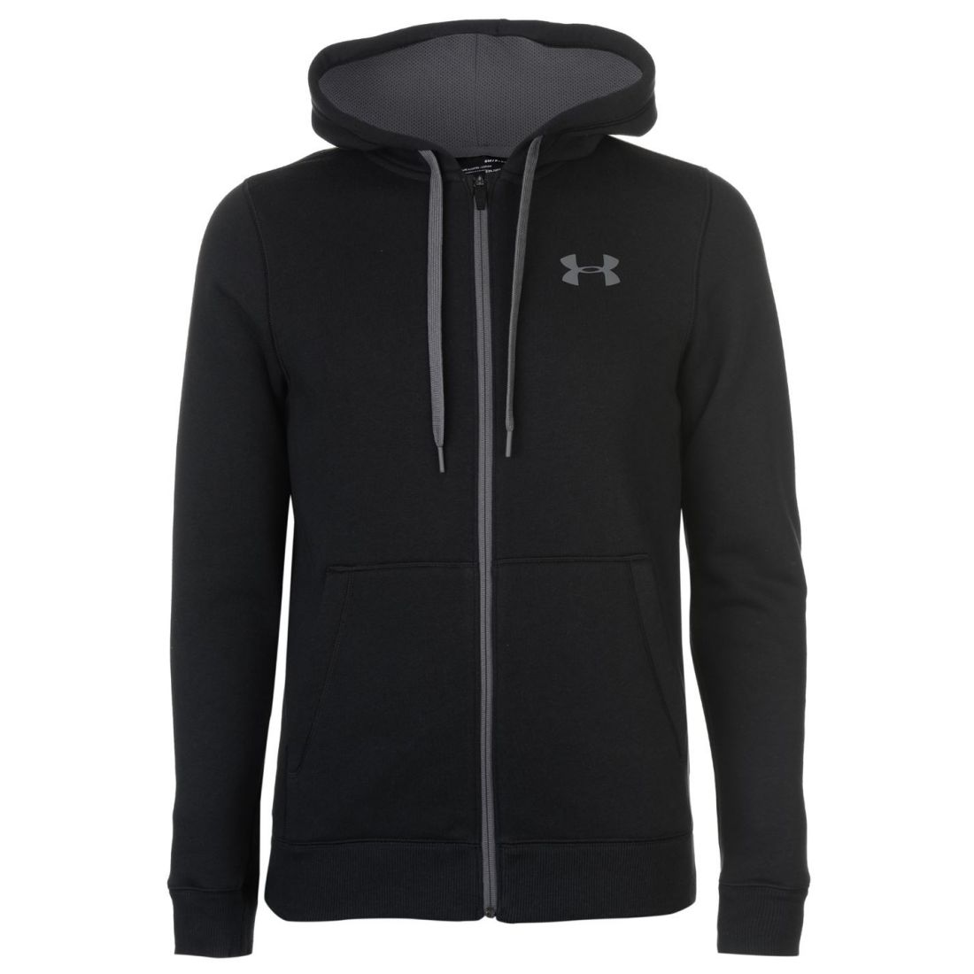 Under-Armour-Mens-Rival-Fitted-Full-Zip-Hoody-Hoodie-Hooded-Top-Breathable-Mesh thumbnail 7