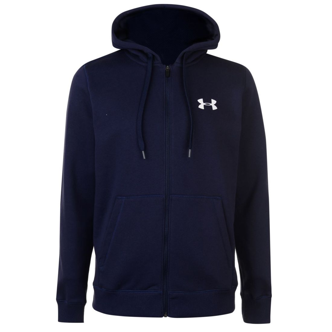 Under-Armour-Mens-Rival-Fitted-Full-Zip-Hoody-Hoodie-Hooded-Top-Breathable-Mesh thumbnail 13