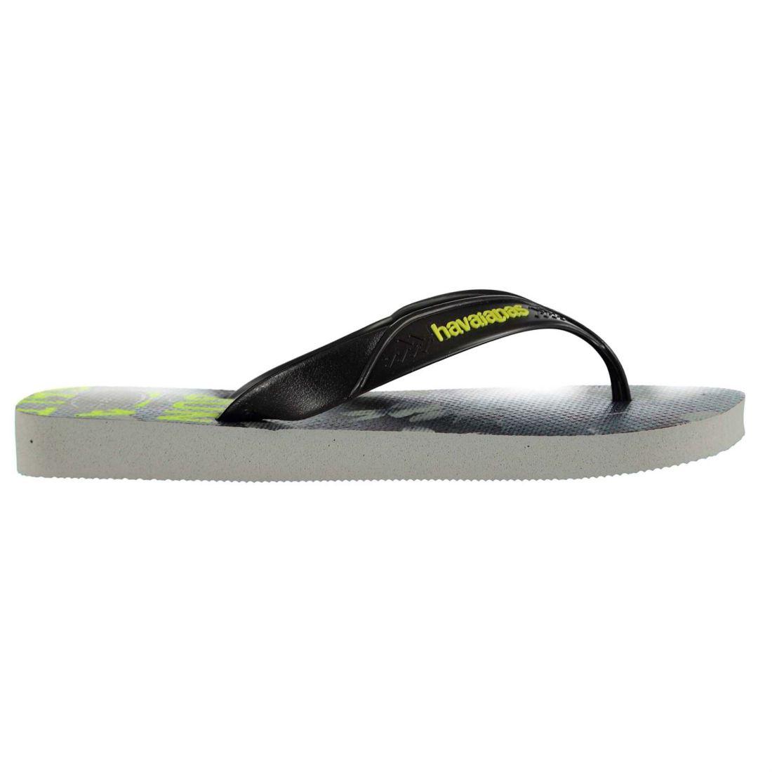 11323a437 Havaianas Mens Surf Flip Flops Strap Toe Post Pattern Print Textured ...