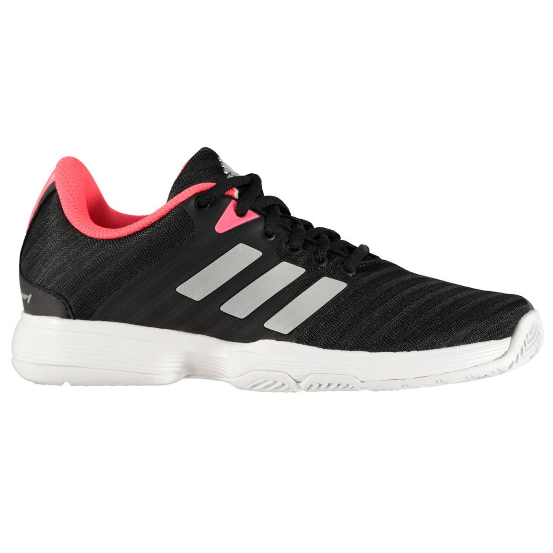 meet f6a97 afb8a adidas Womens Barricade Court Trainers Tennis Shoes Padded Ankle Collar