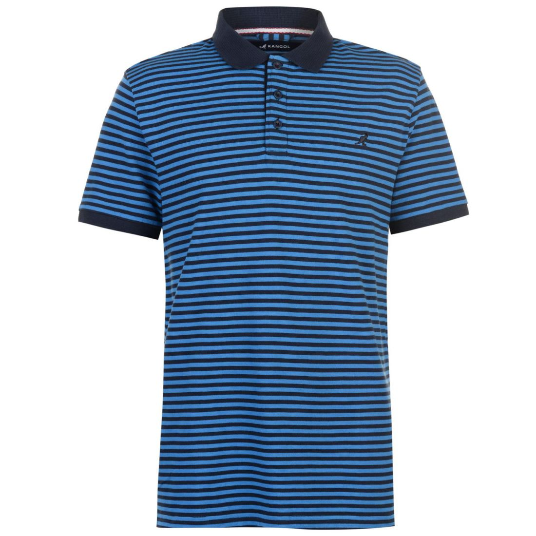 017e4ec2752 Kangol Mens Pin Stripe Polo Shirt Classic Fit Tee Top Short Sleeve ...