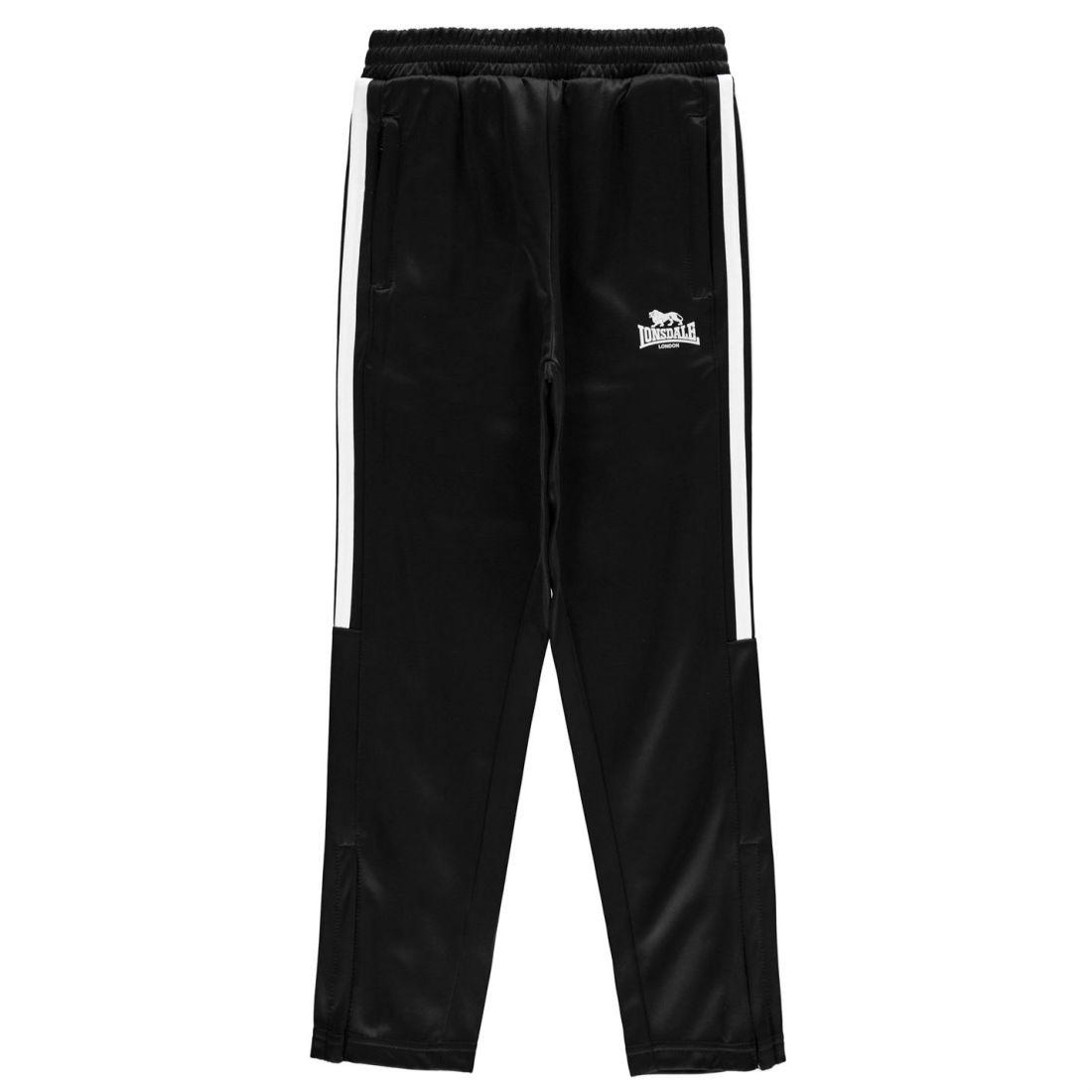 00998157 Lonsdale Kids Boys 2 Stripe Taped Pants Junior Poly Tracksuit ...