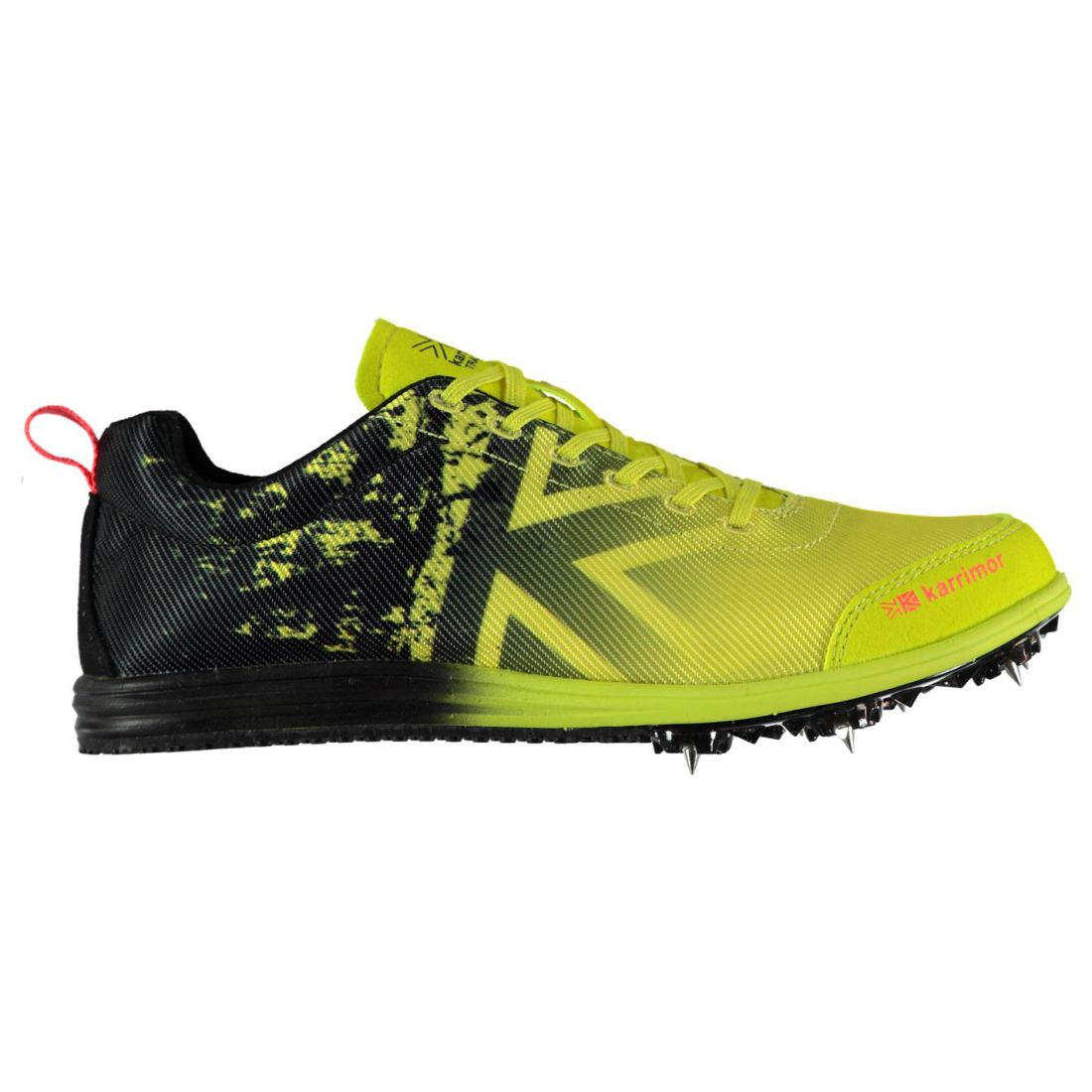 e54ce815a907 Karrimor Kids Junior Running Spikes 4 Track Shoes Lace Up Padded Ankle  Collar
