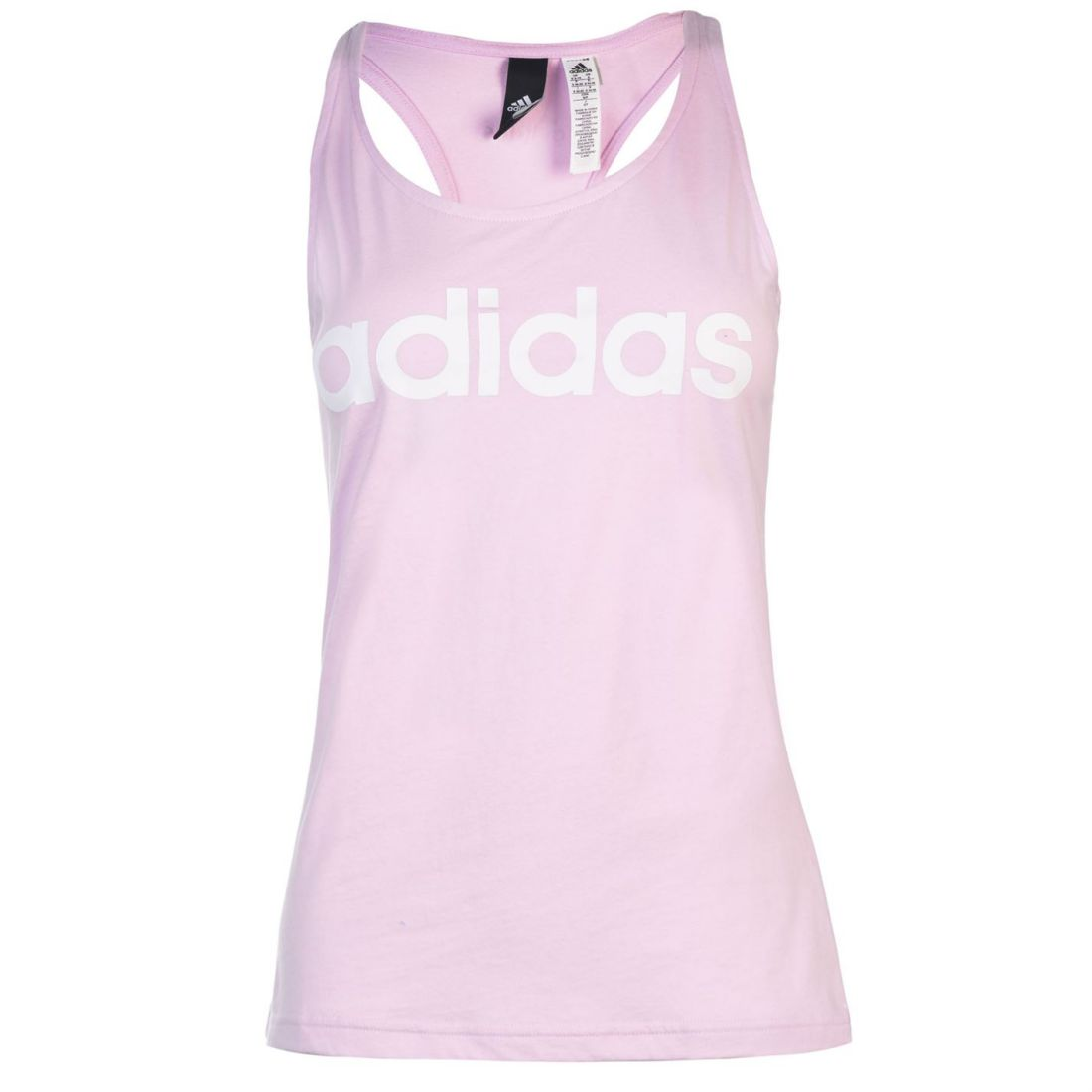 a1225c93eab Image is loading adidas-Womens-Linear-Tank-Top-Racerback-Vest-Racer-