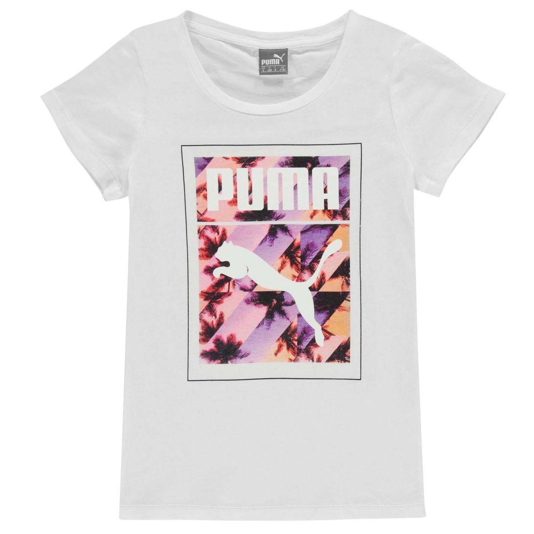 d401439d36 Puma Kids California T Shirt Junior Girls Casual Short Sleeve Crew Neck Tee  | eBay