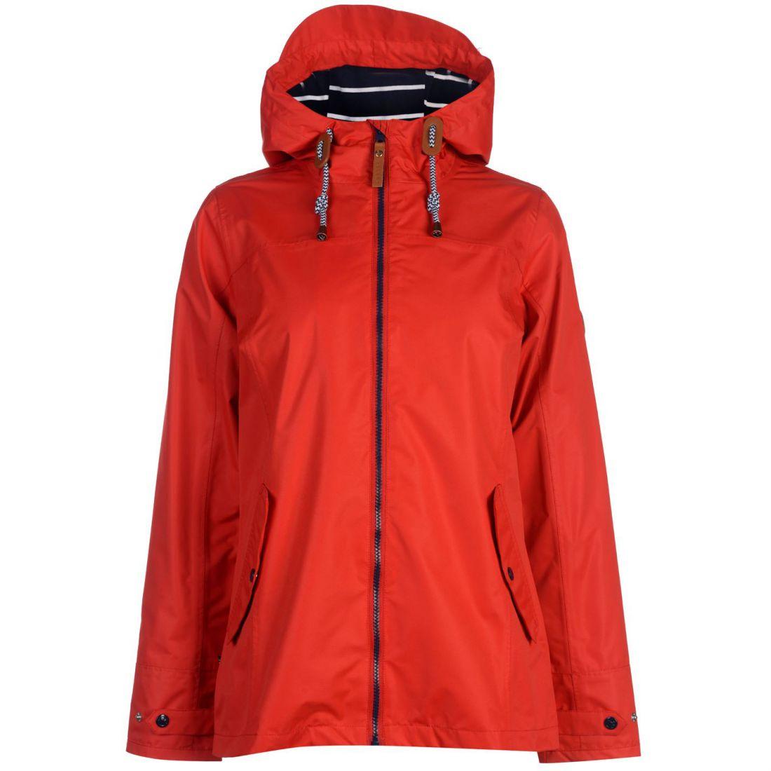c8044bc3a570 Gelert Coast Water Repellent Jacket Ladies Coat Top High Neck Hooded ...