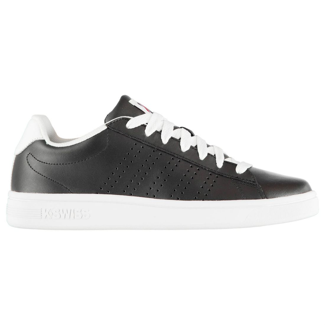 K Swiss Court Casper Sneakers Mens Gents Laces Fastened Padded Ankle Collar
