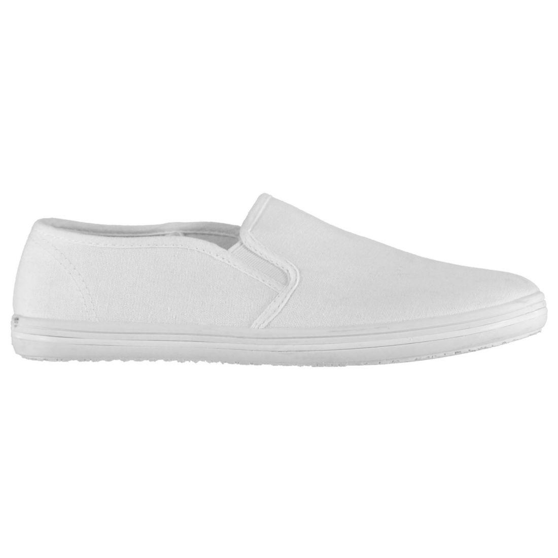 e60b0e133d5 SLAZENGER YOUNGSTER CANVAS Slip On Shoes Childrens Pumps Comfortable ...
