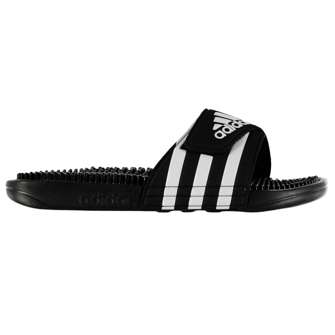 24e02bac4423a8 Image is loading adidas-Mens-Adissage-Slides-Sandals-Massage-Footbed-Summer-