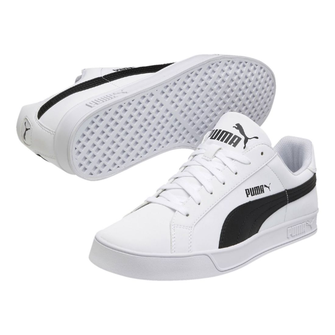Puma Mens Smash Vulc Trainers Low Lace Up Padded Ankle Collar Flat ... 7e4d5d6b8
