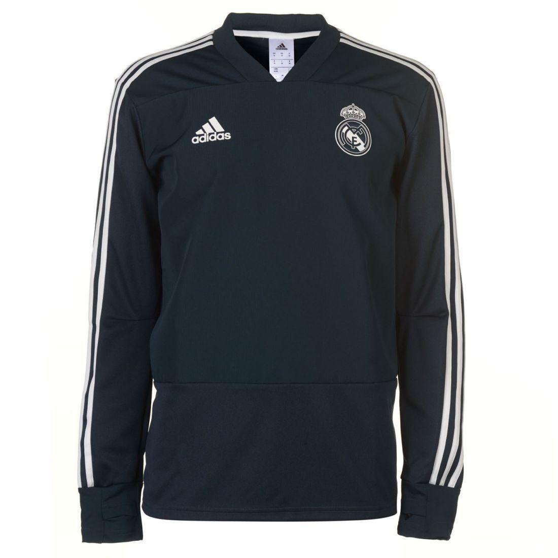 adidas Mens Real Madrid CF Training Top Long Sleeve Performance Shirt V 7b78d8d54