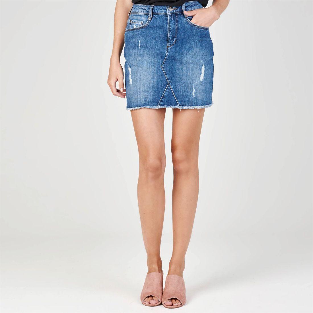 dcefd67651c7 Firetrap Womens Denim Skirt New