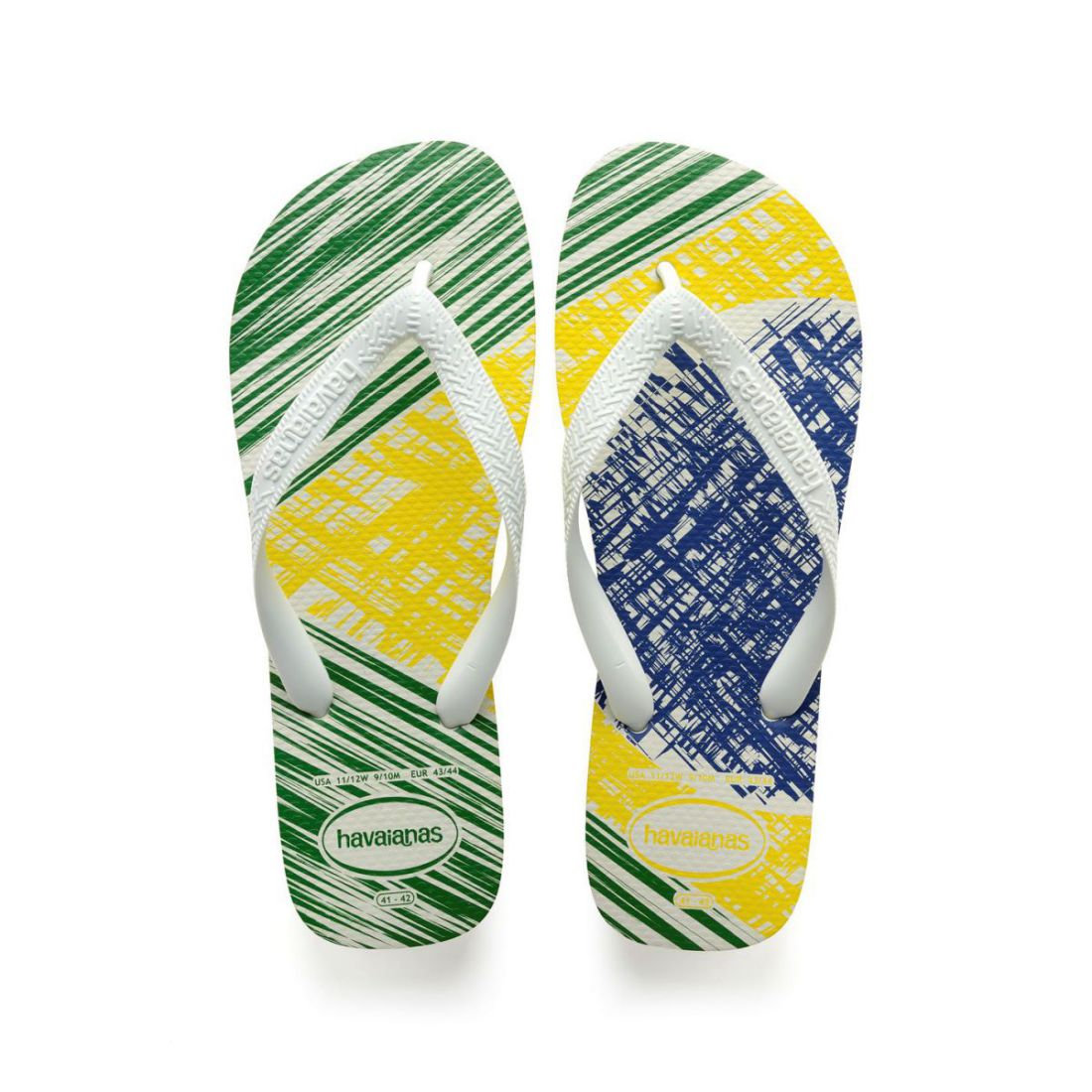 592392c87b3 Details about Havaianas Mens Brasil Print Flip Flops Strap Toe Post Summer  Textured
