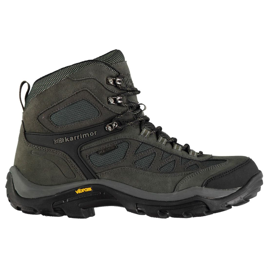 Karrimor Aspen Mid Walking Boots Mens Gents Laces Fastened Water Repellent