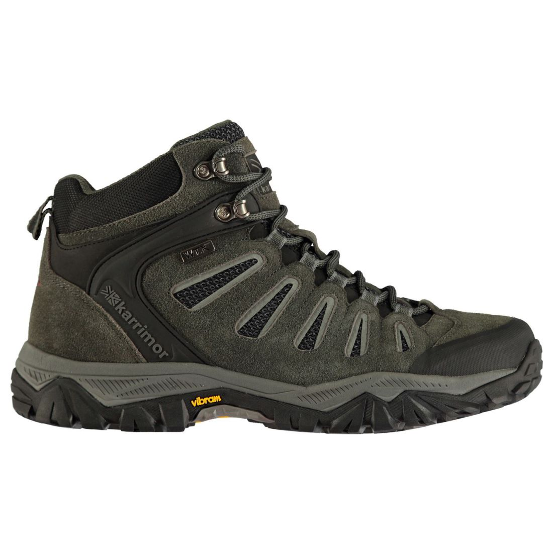 Karrimor Mens  Wildcat Mid Walking Boots Lace Up Breathable Padded Ankle Collar  store sale outlet