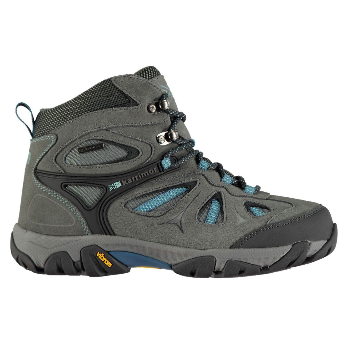 Karrimor Aspen Mid Water Repellent Walking Boots Ladies Laces Fastened