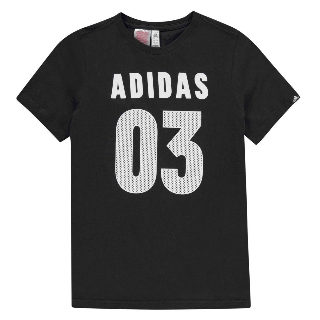 03 Adidas Childrens Top Tee Crew Youngster Shirt Short Neck T Boys xSPcqdfxwr