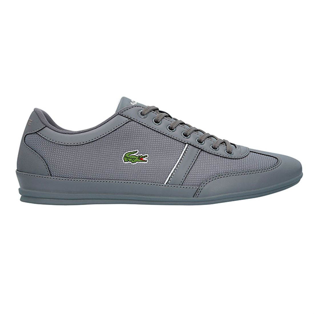1ab8579612c15 Image is loading Mens-Lacoste-Misano-Trainers-Low-Lace-Up-Tonal-
